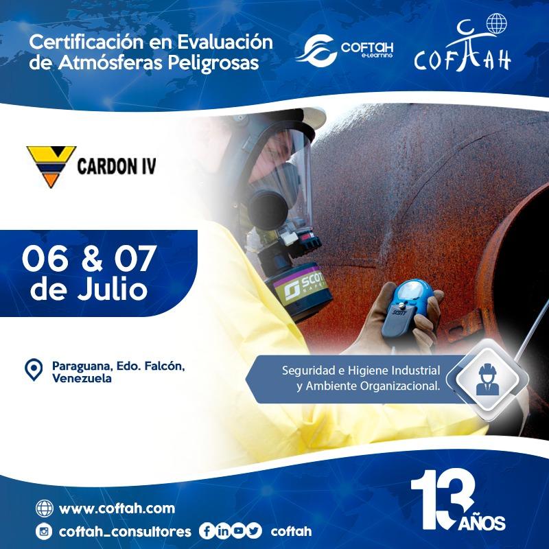 Certificación en Evaluación de Atmósferas Peligrosas